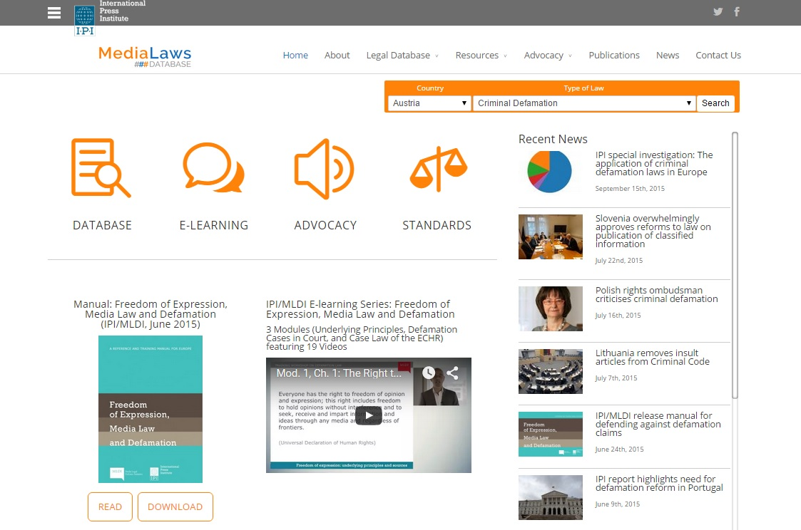 IPI launches new online media laws database