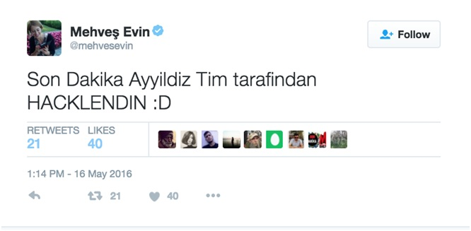 Son Dakika Ayyildiz Tim tarafından hacklendin. / Last Minute! Your account has been hacked by the Ayyildiz Team.