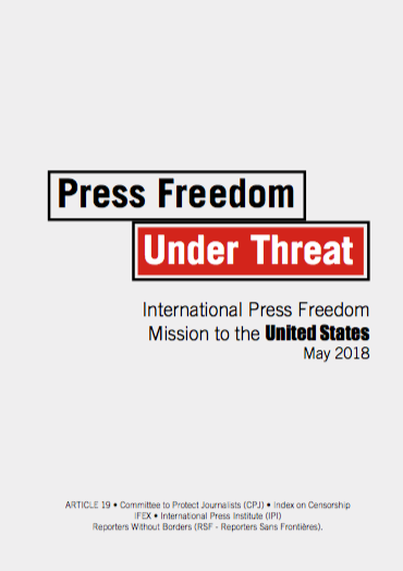 Media freedom in the US under threat - International Press